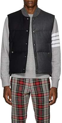 Thom Browne Men's Two-Tone Down-Quilted Wool Vest