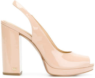 MICHAEL Michael Kors patent classic chunky heel pumps