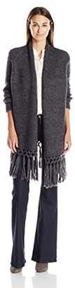 Joie Women's Baden B Cozy Reversed Jersey Half Cardigan Stitch