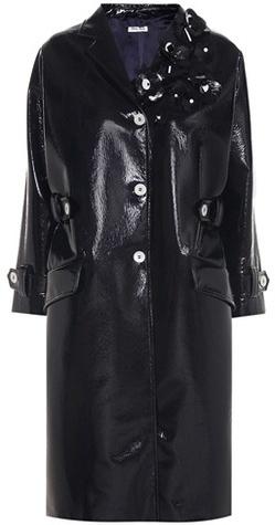 Miu MiuMiu Miu Embellished faux-leather coat