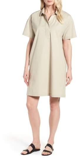 Eileen Fisher Organic Cotton Poplin Shirtdress