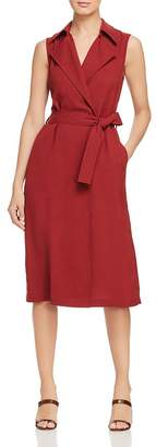 Lafayette 148 New York Florence Sleeveless Belted Trench Dress