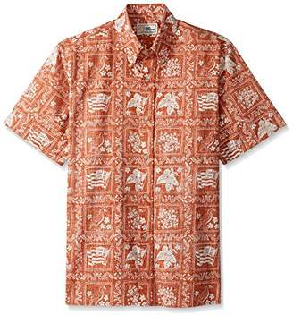 Reyn Spooner Men's Lahaina Sailor Spooner Kloth Classic Fit Hawaiian Shirt
