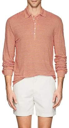 Massimo Alba Men's Striped Linen Polo Shirt