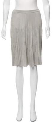 Giorgio Armani Pleated Knee-Length Skirt