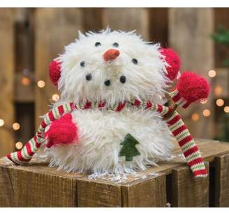 The Holiday Aisle Sitting Furry Snowman with Mittens