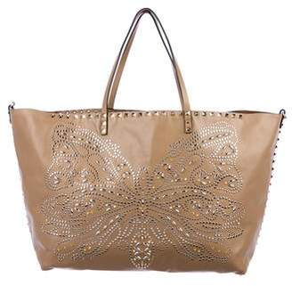 Valentino Rockstud Butterfly Tote