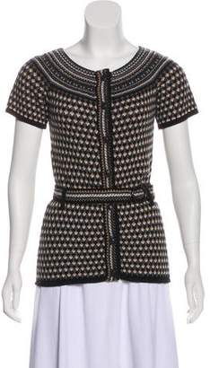 Trina Turk Short Sleeve Intarsia Sweater