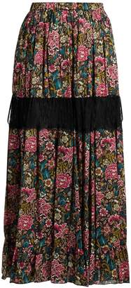 No.21 NO. 21 Floral-print cotton skirt