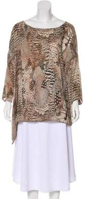 Rag & Bone Printed Three-Quarter Sleeve Top