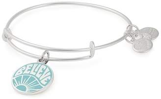 Alex and Ani Words Are Powerful Believe Charm Expandable Wire Bracelet