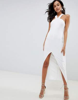 Asos DESIGN strappy cape maxi dress