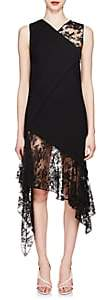 Givenchy Women's Mixed-Media Wool Midi-Dress - Black
