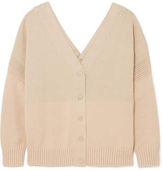See by Chloe Ribbed Cotton Cardigan - Beige