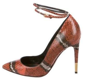 Tom Ford Snakesin Pointed-Toe Pumps