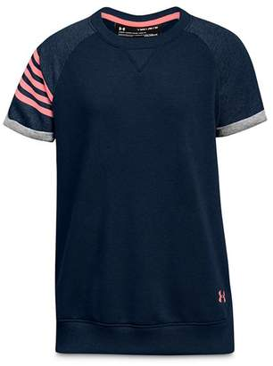 Under Armour Girls' French Terry Short-Sleeve Shirt - Big Kid
