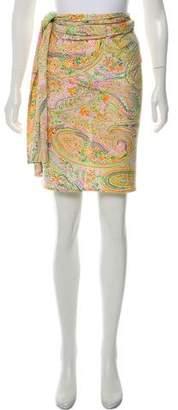 Etro Knee-Length Wrap Skirt