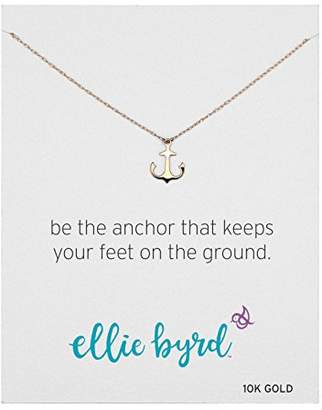 ellie byrd 10k Gold Anchor Necklace