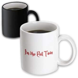 Evil Twin 3dRose Im the Evil Twin, Magic Transforming Mug, 11oz
