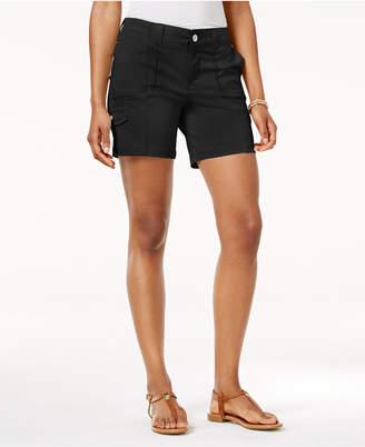 Style&Co. Style & Co Petite Zig-Zag Cargo Shorts, Created for Macy's