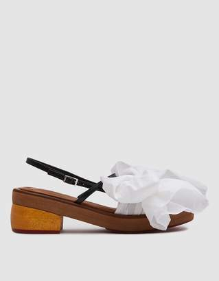 Marni Bow Sandal in Lily White