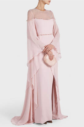 Georges Hobeika Draped Sleeves Gown