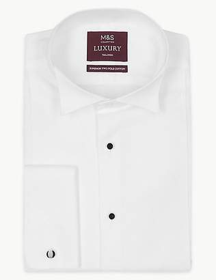 M&S Collection Luxury Pure Cotton Tailored Fit Shirt