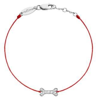 Redline Diamond Bone Red Bracelet - White Gold