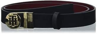 Tommy Hilfiger Women's Round Buckle Reversible 2.5 Belt, Blue (Tommy Navy/Burgundy 902), (Size: 75)