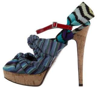 Missoni Woven Ankle Strap Sandals