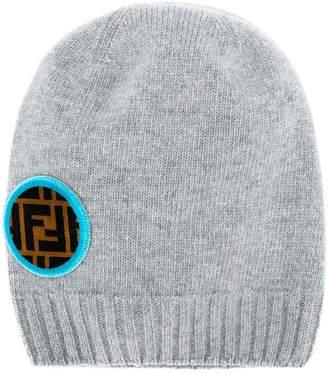 Fendi FF logo patch beanie