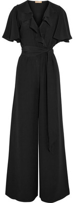 Michael Kors Collection - Ruffled Silk-crepe Jumpsuit - Black $1,995 thestylecure.com