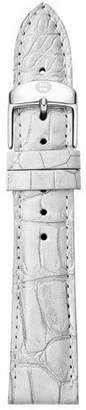 Michele 18mm Metallic Alligator Watch Strap