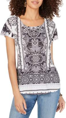 Style&Co. Style & Co. Printed Scoop Neck T-Shirt