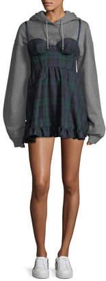 FENTY PUMA by Rihanna Hooded Sweatshirt with Mini Plaid Dress