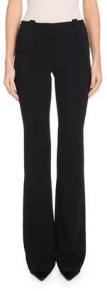 Altuzarra High-Waist Flare-Leg Crepe Pants