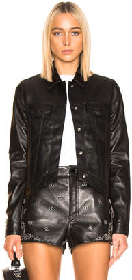 RtA Jack Leather Jacket in Black Night | FWRD