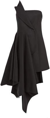 Monse Asymmetrical Strapless Blazer Dress