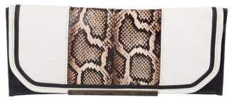 Ramy Brook Embossed Leather Clutch