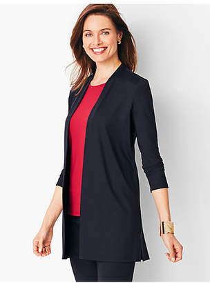 Talbots Knit Jersey Open-Front Cardigan
