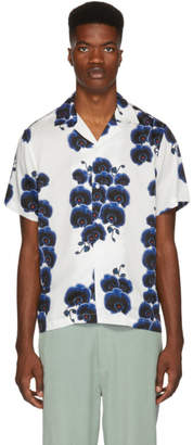 Saturdays NYC White Canty Orchid Shirt