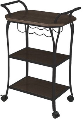 Better Homes & Gardens Better Homes and Gardens Mixed Material Kitchen Cart with Wine Rack