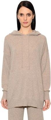 Max Mara Hooded Wool & Cashmere Knit Sweatshirt