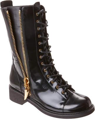 Giuseppe Zanotti Patent Lace-Up Boot