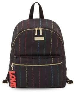 Peace Love World Classic Rainbow Script Backpack