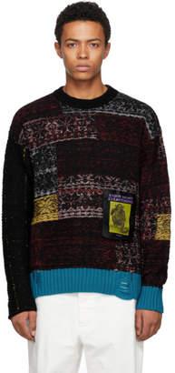Diesel Black and Multicolor K-Lambro Crewneck Sweater