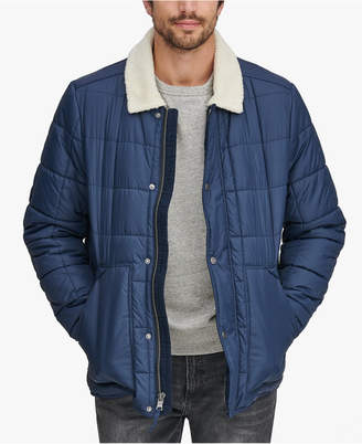 Andrew Marc Men's Puffer Jacket with Fleece Lining