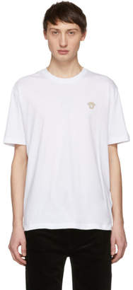 Versace White Embroidered Medusa T-Shirt