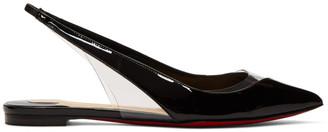 Christian Louboutin Black Patent V Dec Slingback Ballerina Flats