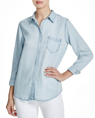 DL1961 Mercer & Spring Chambray Button-Down - The Blue Shirt Shop $178 thestylecure.com